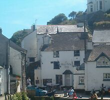 Polperro Bay in Cornwall by Lynn Francis