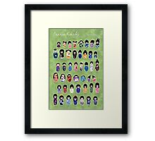 Creative Kokeshi, English version Framed Print
