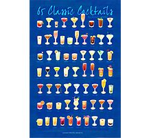 65 Classic Cocktails Photographic Print