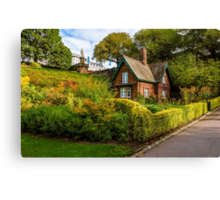 The Gardener's Cottage in the morning light. Canvas Print