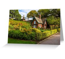 The Gardener's Cottage in the morning light. Greeting Card