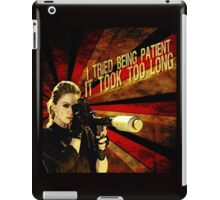 Patience is not one of Pam's virtues iPad Case/Skin