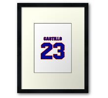 National baseball player Alberto Castillo jersey 23 Framed Print