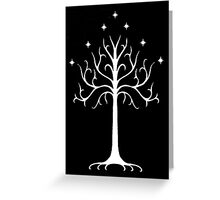 white tree of Gondor Greeting Card