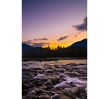 River sunrise Photographic Print