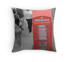 Point red Throw Pillow
