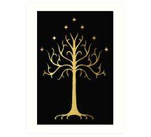 golden tree of Gondor Art Print