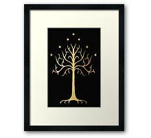 golden tree of Gondor Framed Print