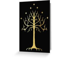 golden tree of Gondor Greeting Card