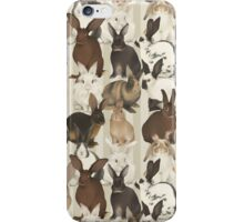 Rabbit Breeds iPhone Case/Skin