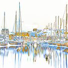 Harbor Night   (Selective Inversion) by Peter Stratton