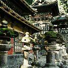 Stone lanterns at Toshogu by Joumana Medlej