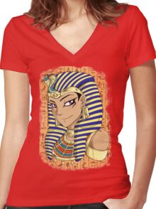Pharaoh Atem Yu-Gi-Oh! Women's Fitted V-Neck T-Shirt
