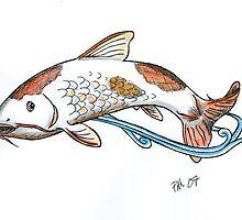 Koi Fish Tattoo Design by crackgerbal