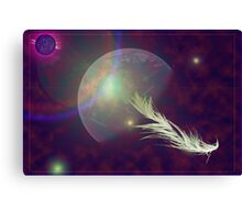 feather in space Canvas Print