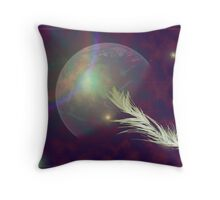 feather in space Throw Pillow