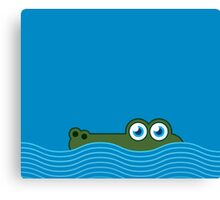 Crocodile iPhone case Canvas Print