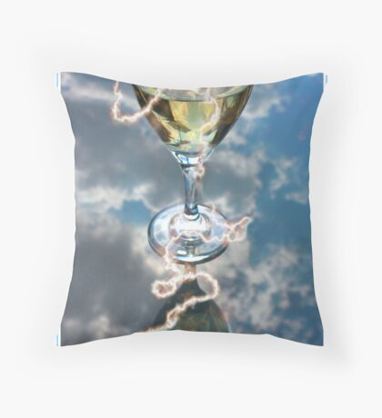 Fire and Wine Throw Pillow
