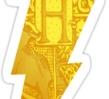 harry potter hogwarts crest lightning bolt Sticker