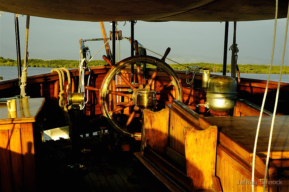 Sailing ship wheel house Fiji by Jeffrey  Sinnock