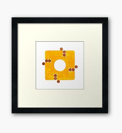 Qalb (Heart) Framed Print
