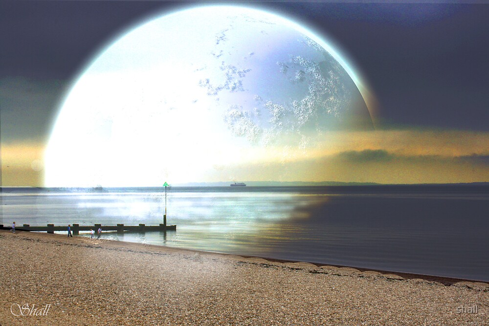 Moonlit Beach by shall
