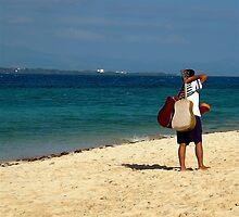 Fijian guitar player by Jeffrey  Sinnock