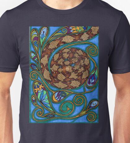 paisley turquoise snake Unisex T-Shirt