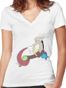 Discord l My Little Pony Women's Fitted V-Neck T-Shirt