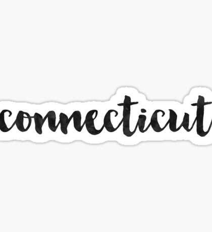 Connecticut - Black Ink Calligraphy Sticker