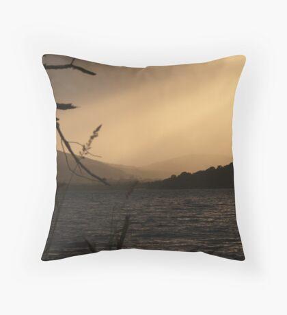 Loch Ness Sunset, Scotland Throw Pillow