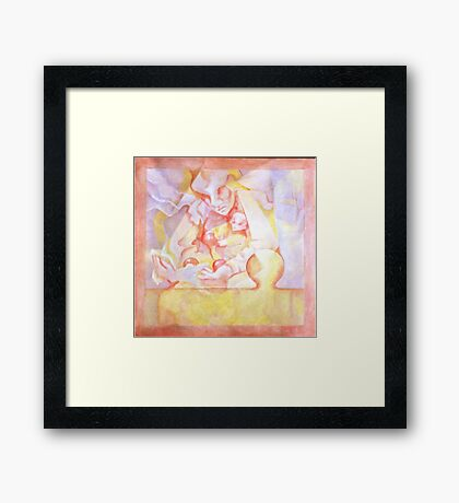 PUZZLE PIECE #9 Framed Print