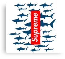 Supreme sharks Canvas Print