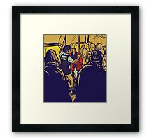 Enjolras gets arrested by Coptaire Framed Print