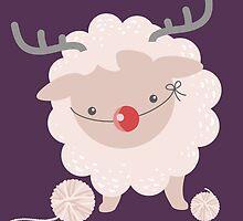 sheep knitting crochet yarn balls reindeer costume by BigMRanch