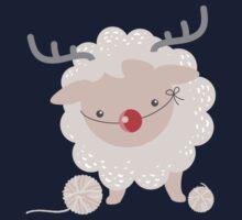 sheep knitting crochet yarn balls reindeer costume Kids Tee