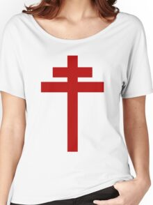 cross of Lorraine - Knights Templar - Holy Grail - Joan of Arch - The Crusades Women's Relaxed Fit T-Shirt