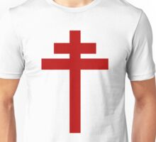 cross of Lorraine - Knights Templar - Holy Grail - Joan of Arch - The Crusades Unisex T-Shirt