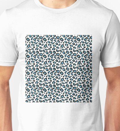 Leopard Spots in Blue Unisex T-Shirt