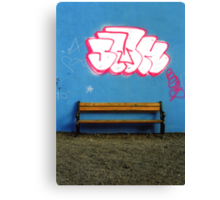 Saturated street Canvas Print