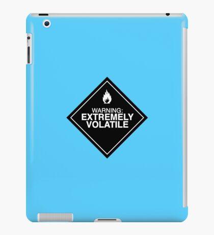 Extremely Volatile warning sign iPad Case/Skin