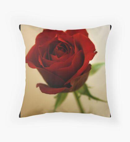 The Reddest Rose Throw Pillow