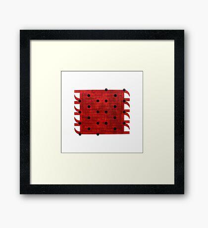 Ghadab (anger) Framed Print