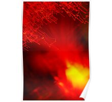 Red neon lights 8 Poster