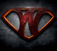 """The Letter W in the Style of """"Man of Steel"""" by BigRockDJ"""
