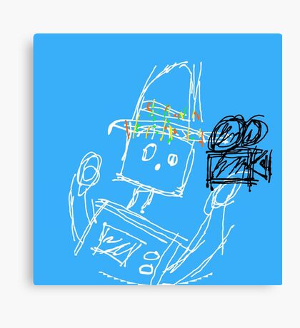 The Tortilla Robot - Blue Canvas Print