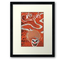 Clowns Red Framed Print