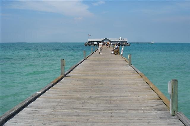The pier at Anna Maria by Mick Milloy