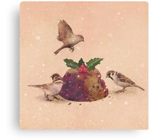 Christmas Pudding Raid  Canvas Print