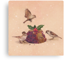 Christmas Pudding Raid  Canvas Print